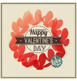 Retro Valentines Day greeting with butterflies vector image vector image