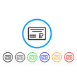 rouble cheque rounded icon vector image vector image