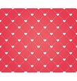 seamless pattern hearts on a red background vector image