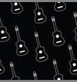 seamless pattern with guitar vector image