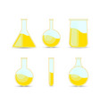 Set chemical flask bottles potions for halloween