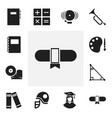 set of 12 editable teach icons includes symbols vector image vector image