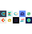 set of letter e logo vector image