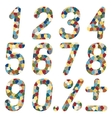 Set of numbers of mosaics vector image vector image