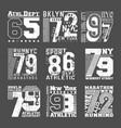 set t shirt print stamp design vector image vector image