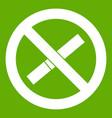 sign prohibiting smoking icon green vector image vector image