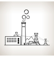 Silhouette coal power station vector image