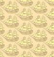 Sketch sea ship in vintage style vector image vector image