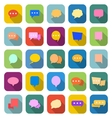 Speech bubble color icons with long shadow vector image vector image