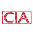 stamp text cia vector image vector image