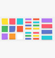 sticky notes paper colored square reminders vector image