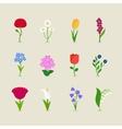 Stylized mod flowers vector image