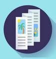 three-fold brochure icon flat style vector image vector image