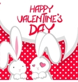 Two cute bunny Valentines Day vector image