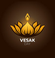 vesak day icon design vector image