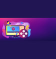 video content marketing concept banner header vector image vector image