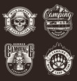 vintage summer camping prints vector image vector image