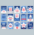 winter promo cards season offers advertising vector image vector image
