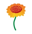Yellow flower icon cartoon style vector image vector image