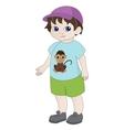 Cartoon boy vector image