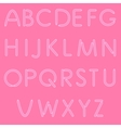 Girlish Letters ABC Font Isolated On Pink vector image