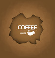 Coffee house background coffee cup trendy style vector image