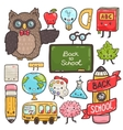 Cute cartoon characters Back to school background vector image