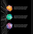 123 steps abstract infographic elements vector image