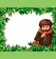 a hobo on nature border vector image vector image