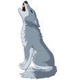 A wolf Howling on Top of its Lungs vector image