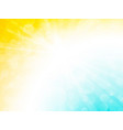 abstract blue yellow ray bokeh background vector image vector image