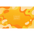 Abstract liquid dynamic background banner