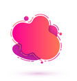abstract pink liquid concept vector image vector image