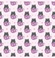 adorable kitten seamless pattern vector image vector image