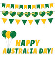 australia day greeting card vector image vector image