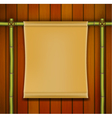 Bamboo frame with parchment banner vector image vector image