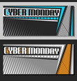 banners for cyber monday vector image