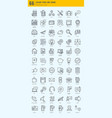 basic icons bundle vector image vector image