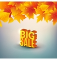 Big autumn sale design template poster Fall vector image vector image
