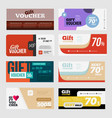 big voucher discount template set vector image