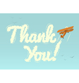 Biplane with word Thank You vector image