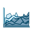 blue shading silhouette of statistical graphs in vector image vector image
