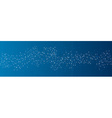 Blue social network background vector image vector image
