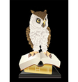 book smart owl vector image vector image