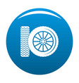 car tire icon blue vector image vector image