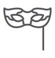 carnival mask line icon festival and masquerade vector image