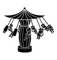 carousel icon simple style vector image vector image