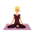 Cartoon Girl in yoga position vector image vector image