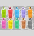 cartoon multiplication table vector image