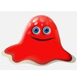 Cartoon red creature vector image